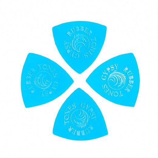 Rubber Tones Gypsy Blue Silicon 4 Picks
